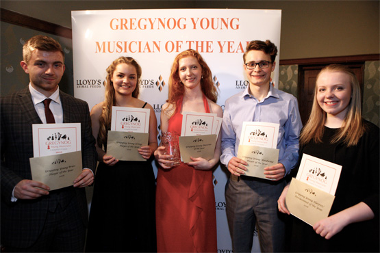 Gregynog Young Musician Competition - 2016, Finalists